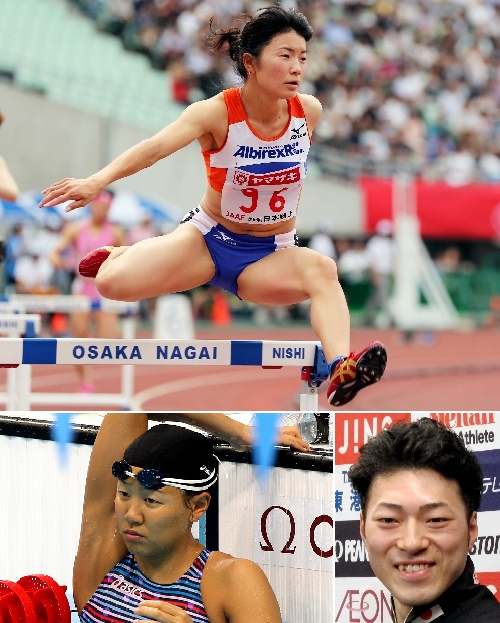 写真:【上】久保倉里美選手 【左下】加藤和選手 【右下】新田祐大選手